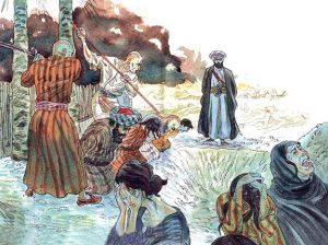 The Hadith: Sahih al-Bukhari Muhammad-the-Prophet-slaughters-Banu-Qurayza-Jewish-Tribe-300x224